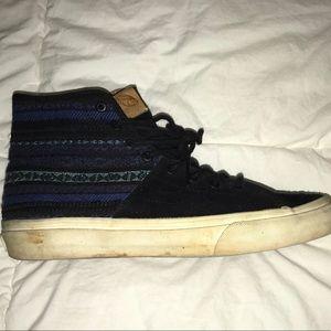 black and blue aztec vans